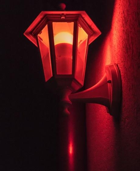 rotlicht laterne